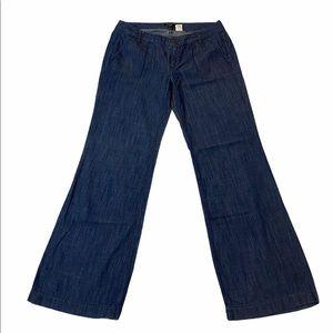 J. Crew City Fit Wide Leg Lightweight Denim Pants